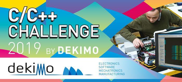 Banner C/C++ Challenge Belgium 2019 by Dekimo