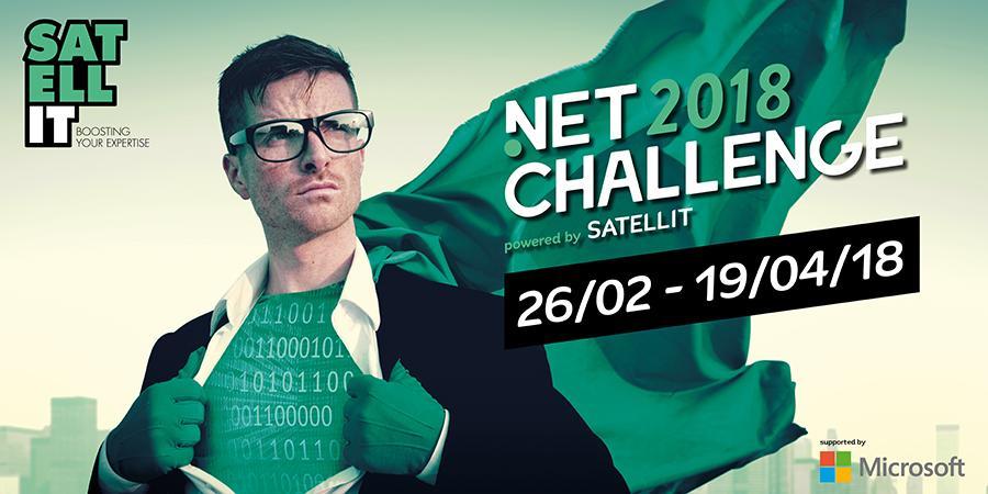 Banner .NET Challenge 2018 Belgium by Satellit