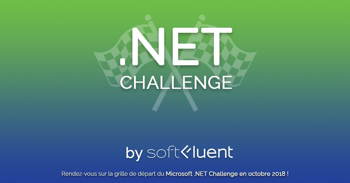 Banner Microsoft .NET Challenge France 2018 by SoftFluent