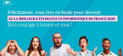 Banner Finale: Le/La Meilleur.e étudiant.e en informatique de France 2020